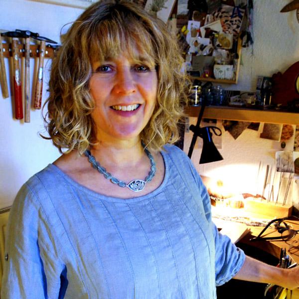 Caroline in her workshop